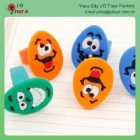 China Funny And Wacky PVC Emoji Finger Ring Toy For Capsule Toy on sale