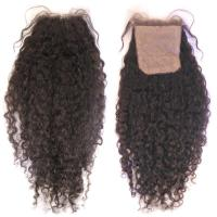 China Malaysian Virgin Curly Silk Base Closure wholesale