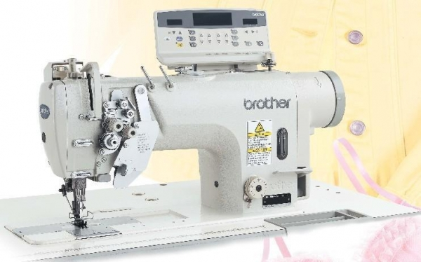 Quality Twin Needle Direct Drive Split Needle Bar Lock Stitcher with Large Hook and Thread Trimmer for sale
