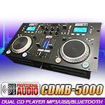 Adkins Pro Audio CDMB-5000 Dual CD Bluetooth MP3 USB Player with Mixer Manufactures