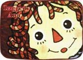 Raggedy Ann Face Small Fleece Blanket from Japan Manufactures