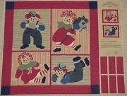 Raggedy Ann & Andy Fabric / Raggedy Patch Kids Fabric Panel Manufactures