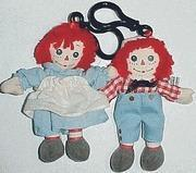 Clip-On Raggedy Ann & Andy Mini Dolls or Backpack Clip On Dolls Manufactures