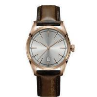 Quality Rose Gold Stainless Steel Watch with Black Leather Thick Thin Strap for sale