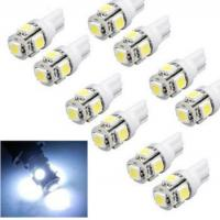 Buy cheap Cool White T10 Wedge 5-SMD 5050 Xenon Car LED Light bulbs 192 168 194 W5W 2825 158 Cool White from wholesalers