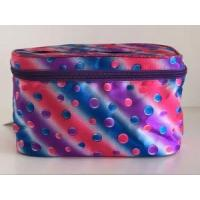 Cosmetic Bag Double Layer Dot Pattern Travel Toiletry Bag Organizer Manufactures