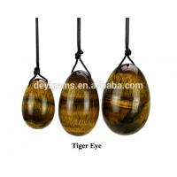 Buy cheap Set Of 3 Hot Sale Drilled Tiger Eye Yoni Egg Price Vaginal Exercise from wholesalers