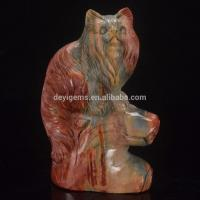 Natural Stone Persian Cat Animal Figurines for Home Decor Manufactures