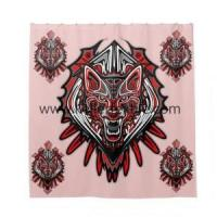 Printed Polyester Wolf Shower Curtain Manufactures