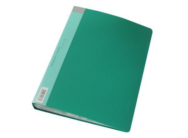 Quality A4 Tailored PP Clear Book with Different Solid Color for sale