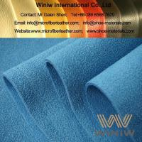 China Suede Microfiber Synthetic Leather Fabric Material on sale