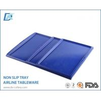 Non Slip Large Custom Made Blue Serving Trays Manufactures