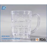 Personalized Clear Plastic Custom Beer Mugs with Handles Manufactures