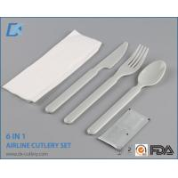 Buy cheap High Quality Wholesale White Handle Plastic Cutlery Sets with Napkin from wholesalers