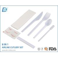 Buy cheap Good Brands Outdoor Portable Basic White Cutlery Set for One from wholesalers