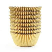 Eoonfirst Gold Foil Metallic Cupcake Case Liners Baking Muffin Paper Cases 198 Pcs Manufactures