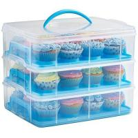 HBlife 3 Layers Cupcake Holder & Cake Carrier Container for 36 Cupcakes (Pink) Manufactures