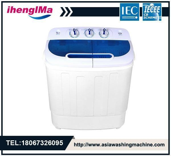 Quality Mini Portable Twin Tub Semi-Automatic Washing Machine Washing Capacity Is 3.6kg for sale