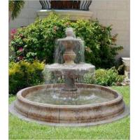 China Stone Marble Carved Water Fountain For Outdoor Garden / Landscape / Yard on sale