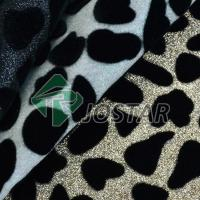 PU Flocking Glitter Fabric