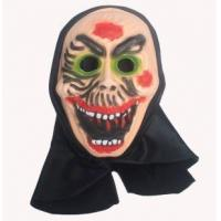 DIY PVC Adult White Halloween Clown Half Mask for Sale Manufactures