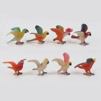 High Quality 3D Miniature Plastic Cartoon Bird Animal Toy Figurines Manufactures