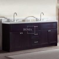 Buy cheap Contemporary Double Basin Bathroom Vanity Espresso 72 inch For Hotel from wholesalers