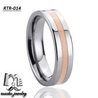 resin inlay tungsten ring tungsten wedding rings RTR-014 Manufactures