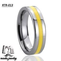 resin inlay tungsten ring tungsten wedding rings RTR-013 Manufactures