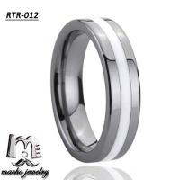 resin inlay tungsten ring tungsten wedding rings RTR-012 Manufactures