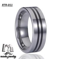 resin inlay tungsten ring tungsten wedding rings RTR-011 Manufactures
