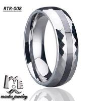 resin inlay tungsten ring tungsten wedding rings RTR-008 Manufactures
