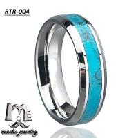 turquoise ring tungsten ring tungsten wedding rings RTR-004 Manufactures