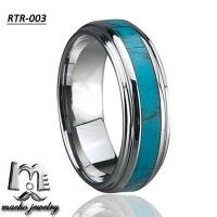 turquoise ring tungsten ring tungsten wedding rings RTR-003 Manufactures