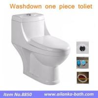 China Hot Sale in Mid east Bathroom Sanitary Ware Washdown One piece Toilet with Bidet Hole on sale