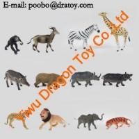 Small Custom Plastic African Zoo Animals Figurines Bulk For Kids Manufactures