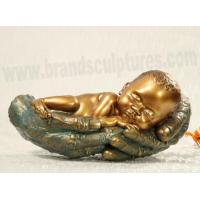 Cute and Sleepy Fiberglass Baby Sculpture as Home Decoration Manufactures