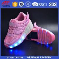 China LED Light Up Wheel Shoes Retractable Roller Skate Sneakers Shoes on sale