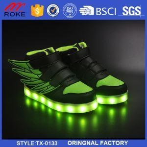 Quality Boys Girls USB Charge LED Light Shoes Kids Luminous Sneakers Sports for sale