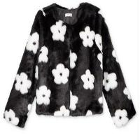 New Fashion High Quality Acrylic Knit Kids Jacquard Plush Jacket