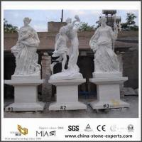 China White Marble Art Figure Carving Sculpture for Garden, Landscape on sale