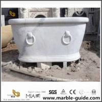China Hunan White Marble Bathtub For Modern Bathroom Design Ideas Manufactures