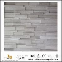 Cultured White Wooden Marble for Kitchen Countertops & Bathroom Vanity Tops Manufactures