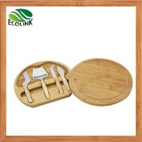 Premium Bamboo Cheese Board with 4 Piece Knife Set Manufactures