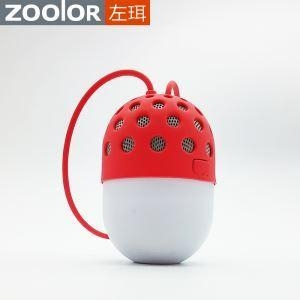 Quality Portable Wireless Mini LED Light Campers Bicycle Speaker with Silicone Rubber Lanyard for Outdoor Ac for sale