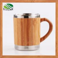 Insulated Bamboo Coffee Tea Mug With Stainless Steel Inner Manufactures