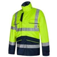 Winter High Visibility Fire Retardant Waterproof Antistatic Reflective Work Wear Jacket Manufactures