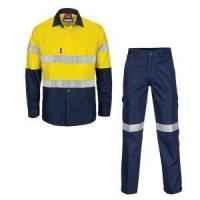 Whosale High Vis Safety Polycotton Drill Work Suit 2piece Men Suit for Industrial & Factory Manufactures