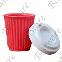 China popular silicone reusable coffee cup on sale