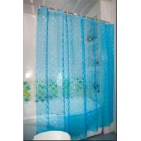 China TD07-Blue-100% polyester shower curtain,3d curtains on sale